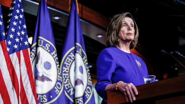 PHOTO: Speaker of the House Nancy Pelosi speaks ahead of a House vote on a war powers resolution, as she addresses her weekly news conference at the U.S. Capitol in Washington, D.C., Jan. 9, 2020. (Tom Brenner/Reuters)
