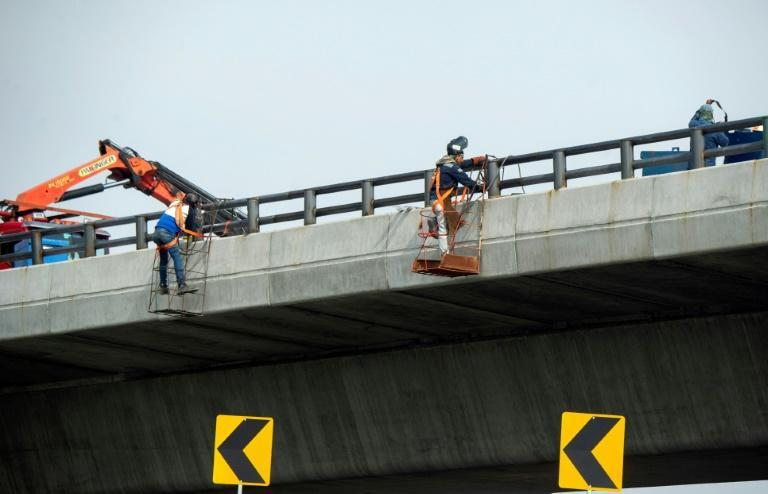 Campaigners filed several legal challenges against the bridge, but its construction is almost complete