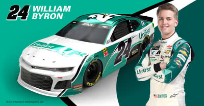 24 Chevrolet Camaro Zl1 With Driver William Byron For Three Races In The 2019 Nascar Season Refreshed Paint Scheme