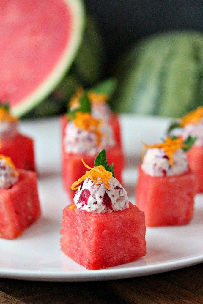 """<p>Kick off your celebration on a sweet note with juicy watermelon bites, made even more mouthwatering by the cranberry mascarpone filling. </p><p><strong>Get the recipe at <a href=""""https://www.cravingsofalunatic.com/watermelon-cups-with-cranberry-mascarpone/"""" rel=""""nofollow noopener"""" target=""""_blank"""" data-ylk=""""slk:Cravings of a Lunatic"""" class=""""link rapid-noclick-resp"""">Cravings of a Lunatic</a>. </strong> </p>"""