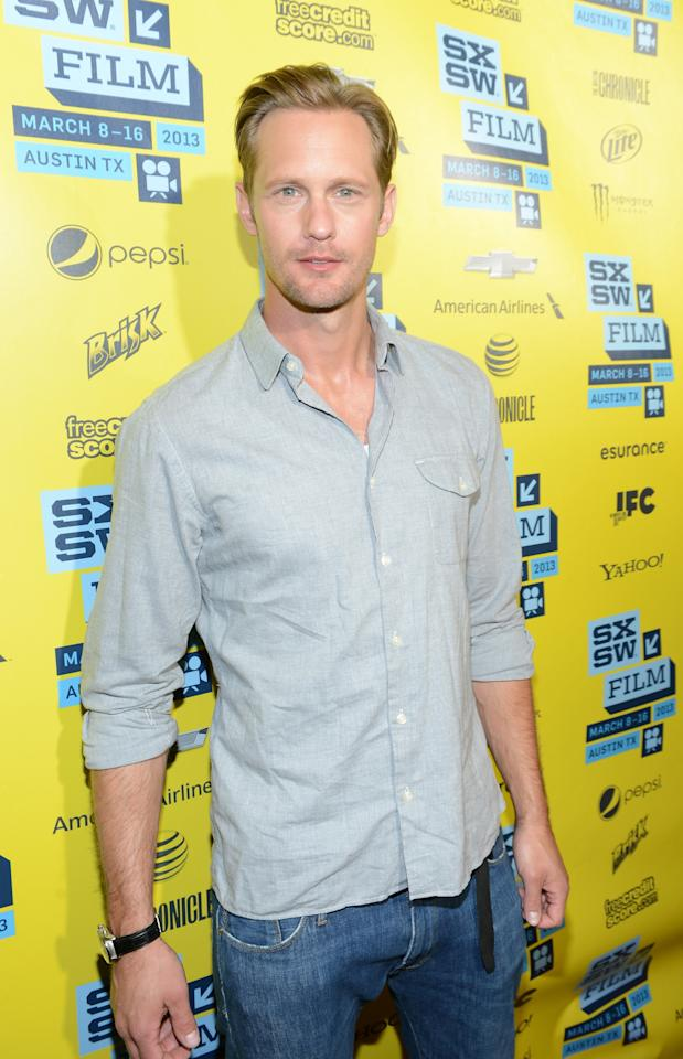 "AUSTIN, TX - MARCH 16:  Actor Alexander Skarsgard attends the premiere of ""The East"" during the 2013 SXSW Music, Film + Interactive Festival at the Paramount Theatre on March 16, 2013 in Austin, Texas.  (Photo by Michael Buckner/Getty Images for SXSW)"