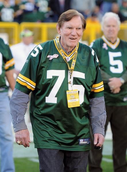 """Forrest Gregg, the great lineman for the mighty Green Bay Packers of the 1960s whom Vince Lombardi called the """"best player I ever coached,"""" has died. He was 85.The Pro Football Hall of Fame announced his death Friday but did not disclose details.A member of the Hall of Fame, Gregg starred at tackle and guard. He played on six NFL/NFC championship teams and three Super Bowl winners. He was elected to the NFL's all-decade team of the 1960s and its 75th anniversary team.He went on to coach in the NFL for 11 years and the CFL for three years, with the Toronto Argonauts in 1979 and the Shreveport Pirates in 1994 and 1995. Gregg coached Cleveland (1975-77), Cincinnati (1980-83) and Green Bay (1984-87). He guided the Bengals to their first Super Bowl during the 1981 season.Gregg also worked in the Ottawa Renegades' front office in 2005 and 2006.Gregg began his NFL career in 1956 and played a final season with the Dallas Cowboys in 1971.He entered the Hall of Fame in 1977. Its president, David Baker, described him as a """"giant"""" who """"exemplified greatness during a legendary career.""""""""He was the type of player who led by example and, in doing so, raised the level of play of all those around him,"""" Baker said in a statement. """"Forrest symbolized many great traits and virtues that can be learned from this game to inspire people from all walks of life.""""The flag at the Hall will be flown at half-staff.Survivors include his wife, Barb.The Associated Press"""