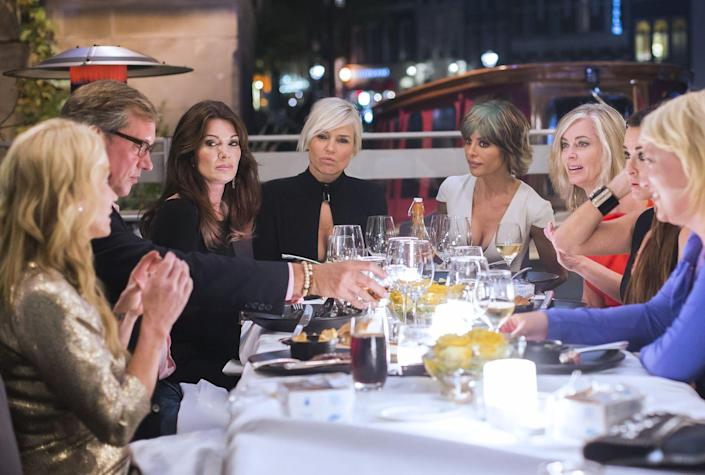 """<p>It takes hard work to make TV gold like the <em>Real Housewives </em>franchise, and not just from the producers' end. The women are logging <a href=""""https://www.bravotv.com/the-daily-dish/real-housewives-of-new-jersey-behind-the-scenes-secrets-spoilers"""" rel=""""nofollow noopener"""" target=""""_blank"""" data-ylk=""""slk:six-day workweeks"""" class=""""link rapid-noclick-resp"""">six-day workweeks</a> for 14 weeks during their season—and that's on top of any other job that they might have. </p>"""