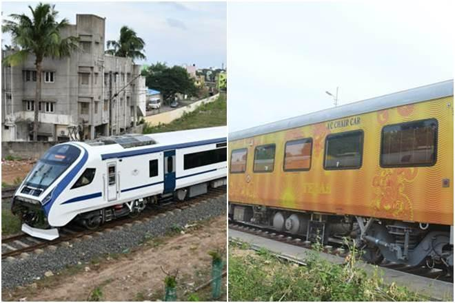 Vande Bharat Express vs irctc tejas express, vande bharat train, tejas express delhi to lucknow