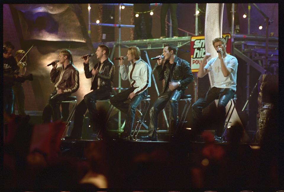 Westlife Performing at the Smash Hits Awards (Photo by © Rune Hellestad/CORBIS/Corbis via Getty Images)