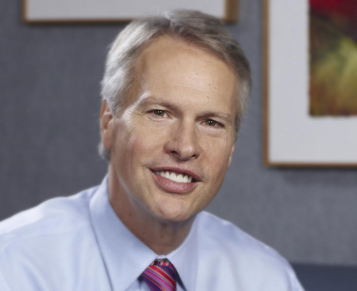 This undated photo provided by The McClatchy Co. shows newly named Associated Press CEO Gary Pruitt. Pruitt, the chairman, president and CEO of The McClatchy Co., will join AP in July, taking over for Tom Curley, who is retiring after leading the news organization for nine years. (AP Photo/The McClatchy Co.)