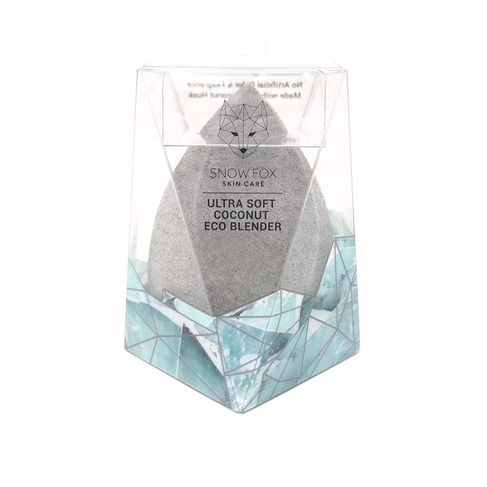 """<p>A latex-free alternative to the traditional beauty sponge, Snow Fox Skin Care's new Ultra Soft Coconut Eco Blender is made of upcycled coconut husk, so it's every bit as friendly to the environment as it is to sensitive skin. </p> <p><strong>$14</strong> (<a href=""""https://www.snowfoxskincare.com"""" rel=""""nofollow noopener"""" target=""""_blank"""" data-ylk=""""slk:Available November 2"""" class=""""link rapid-noclick-resp"""">Available November 2</a>)</p>"""