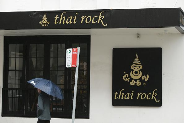 A general view of the exterior of Thai Rock restaurant in Potts Point in Sydney, Australia.