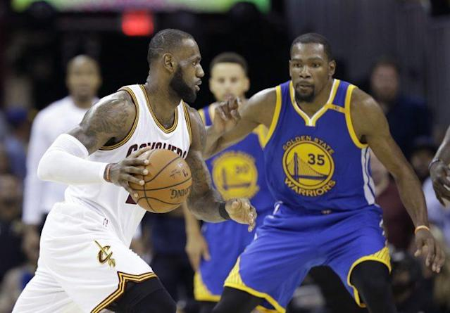 The Warriors will look to close out the Cavs in Game 5. (AP)
