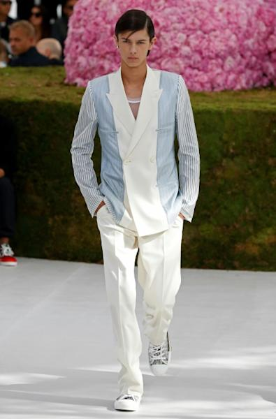 Prince Nikolai of Denmark strutting his stuff at the Dior show