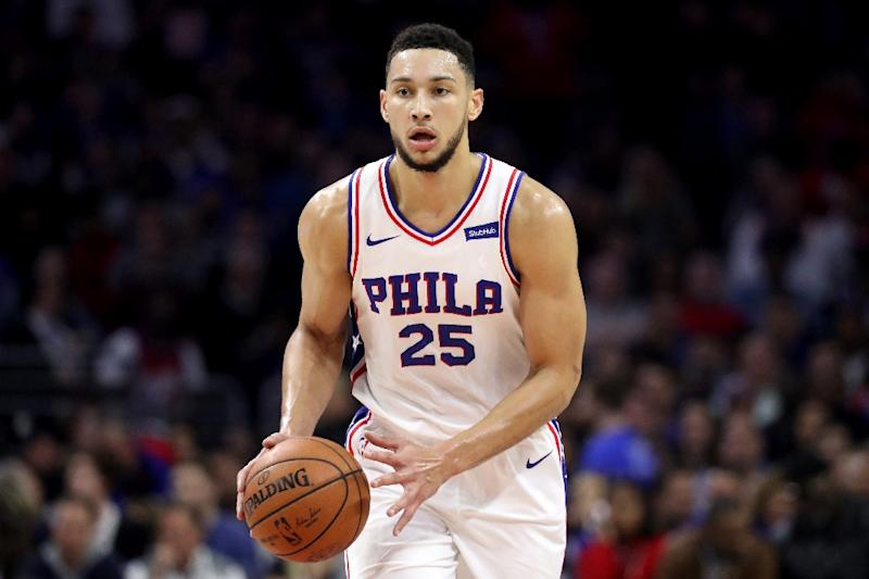 The Philadelphia 76ers' rookie Ben Simmons, seen in action during a NBA game in Philadelphia, Pennsylvania, on November 18, 2017 (AFP Photo/Rob Carr)
