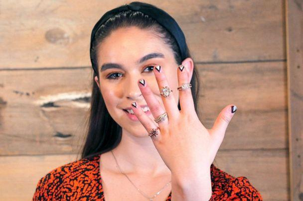 PHOTO: Lab-grown diamonds from Great Heights modeled by Zoe Moore. (ABC News)