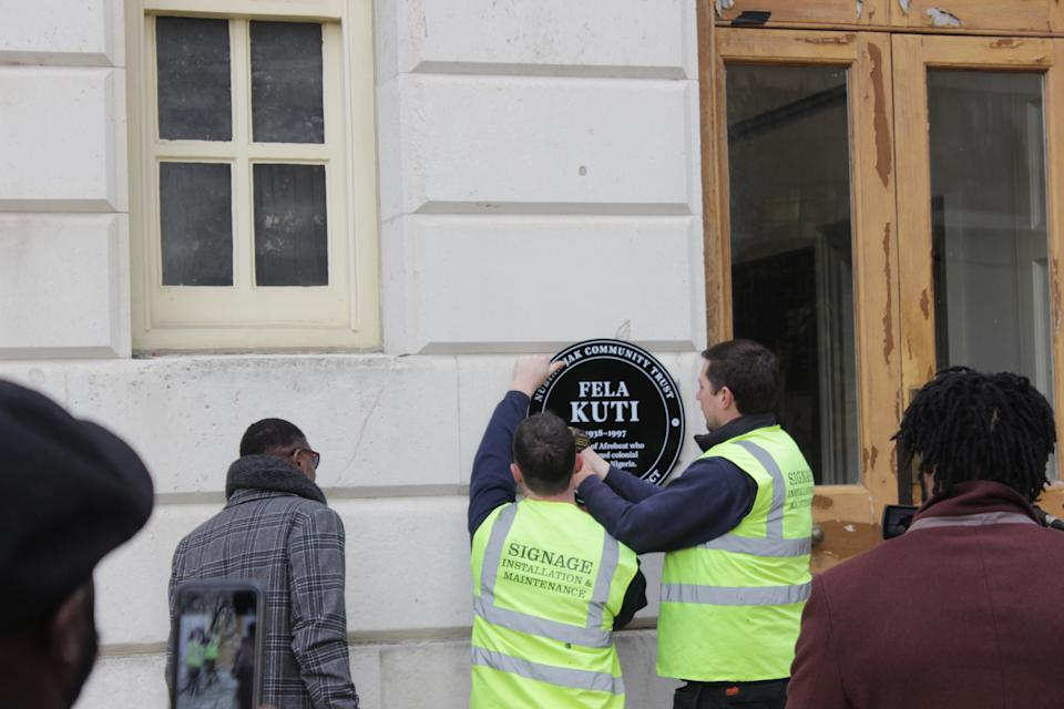 The plaque was unveiled at the Trinity Laban Conservatoire of Music and Dance (Nikola Oksiutycz/PA)