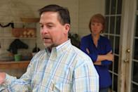 In this Oct. 19, 2012, photo, Ray Arvin, front, and his wife, Candice talk to an Associated Press reporter inside their their home in Charlotte, N.C. Romney supporter, Arvin used to own a small business with five employees, selling equipment to power companies, but he went out of business in 2009. He's now a salesman for another equipment company. Polls consistently find that the economy is the top concern of voters, and Romney tends to get an edge over Obama when people are asked who might do better with it. Whether that truly drives how Americans vote is a crucial question for Election Day. (AP Photo/Robert Ray)