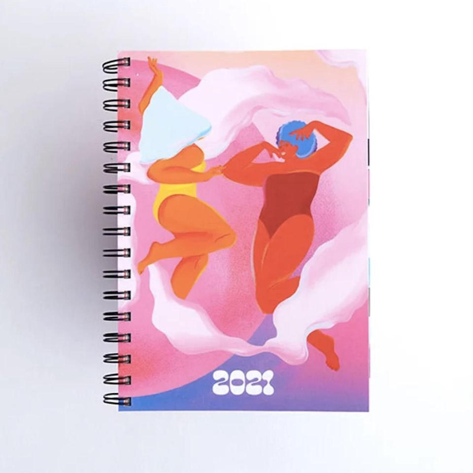 "Society6's all-new 2021 planner is in collaboration with women artists from around the world, featuring original designs that will keep the creative juices flowing and inspiration high all year long. $35, Society6. <a href=""https://society6.com/product/society6-artist-planner-2021"" rel=""nofollow noopener"" target=""_blank"" data-ylk=""slk:Get it now!"" class=""link rapid-noclick-resp"">Get it now!</a>"