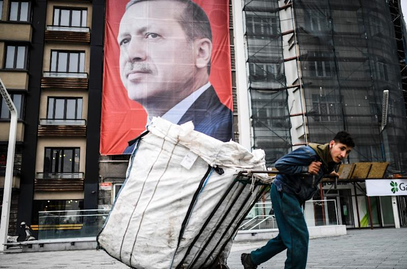 Turkish President Recep Tayyip Erdogan is locked in a bitter war of words with The Netherlands (AFP Photo/BULENT KILIC)