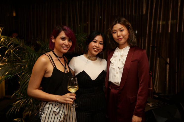 Fashion game-changer of the year Lenne Chai and friends at the Zalora Style Awards 2017