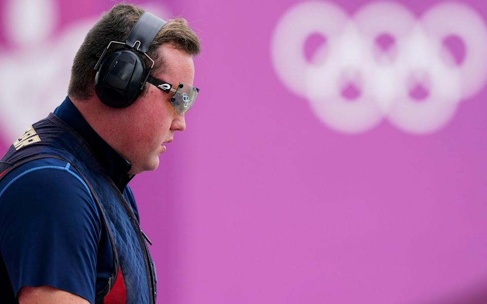 Matthew John Coward Holley, of Britain, competes in the men's trap at the Asaka Shooting Range in the 2020 Summer Olympics, Thursday, July 29, 2021, in Tokyo, Japan - AP/Alex Brandon