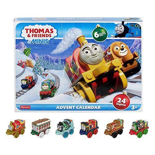 "<p><strong>Thomas & Friends</strong></p><p>amazon.com</p><p><strong>$67.99</strong></p><p><a href=""https://www.amazon.com/dp/B083W12613?tag=syn-yahoo-20&ascsubtag=%5Bartid%7C10055.g.28939299%5Bsrc%7Cyahoo-us"" rel=""nofollow noopener"" target=""_blank"" data-ylk=""slk:Shop Now"" class=""link rapid-noclick-resp"">Shop Now</a></p><p>Build up their train collection with this advent calendar, which offers a different engine every day. There are even six exclusive minis included with this set. <em>Ages 3+</em></p>"
