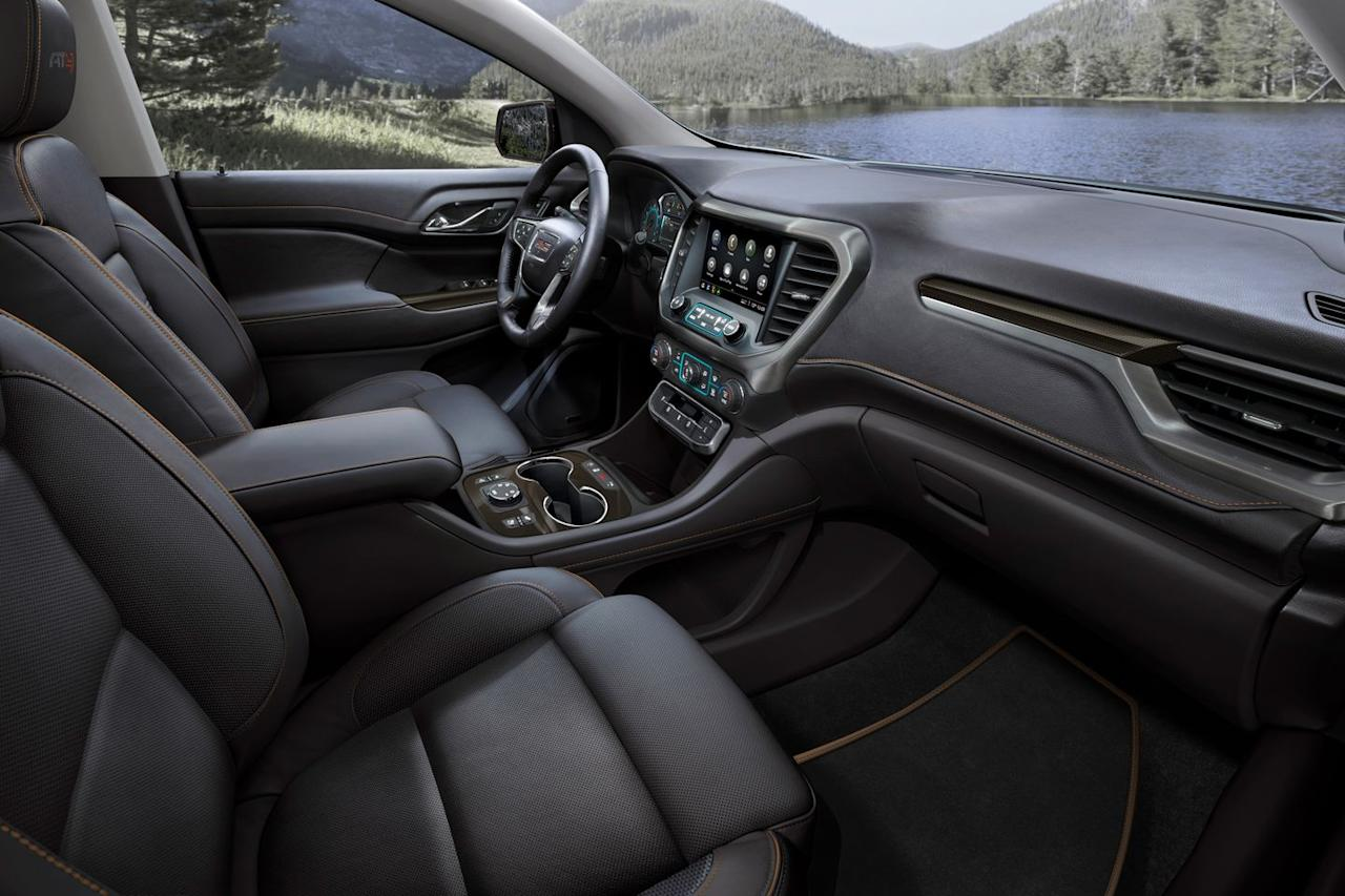 <p>The 2020 Acadia's new Electronic Precision Shift push-button shifter arrangement can be a cumbersome thing in practice, but it controls a slick new nine-speed automatic transmission that replaces the previous six-speed unit.</p>