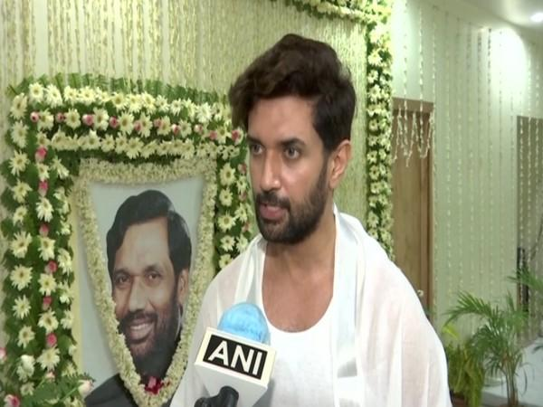 LJP chief Chirag Paswan speaking to ANI in Patna on Friday. [Photo/ANI]