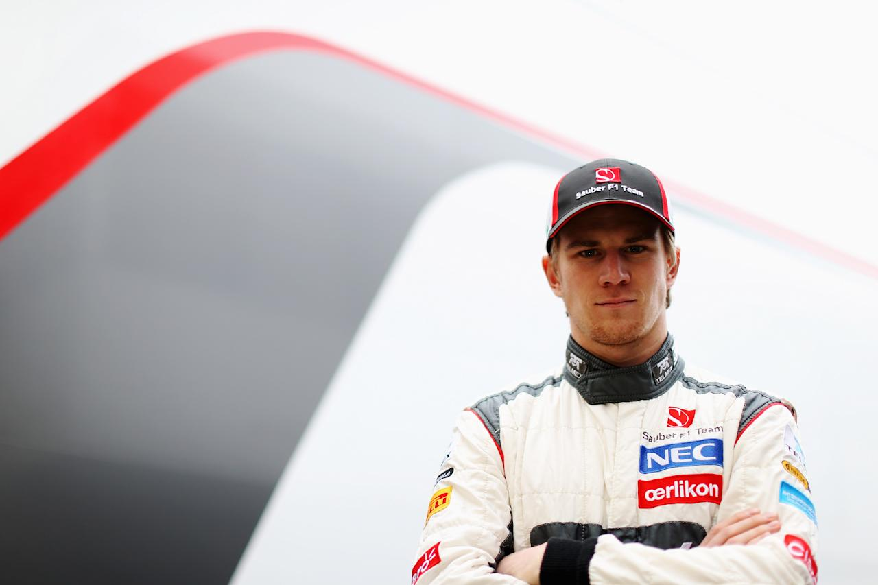 MONTMELO, SPAIN - FEBRUARY 28:  Nico Hulkenberg of Germany and Sauber F1 poses for a photograph during day one of Formula One winter test at the Circuit de Catalunya on February 28, 2013 in Montmelo, Spain.  (Photo by Mark Thompson/Getty Images)