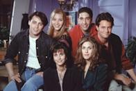 "Thanks to modern streaming services, you can watch an episode (or five) of <em>Friends</em> whenever you'd like. And if you're observant, you might notice that the <a href=""https://www.cosmopolitan.com/uk/entertainment/news/a29836/friends-facts-33-things-you-never-knew/"" rel=""nofollow noopener"" target=""_blank"" data-ylk=""slk:word &quot;friends&quot; is said in every single one of the 236 episodes of the show"" class=""link rapid-noclick-resp"">word ""friends"" is said in every single one of the 236 episodes of the show</a>, according to <em>Cosmopolitan</em>."