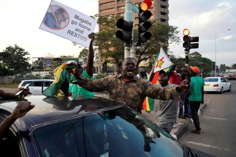 Zimbabweans took to the streets to celebrate when Robert Mugabe stepped down as president after 37 years in the power seat
