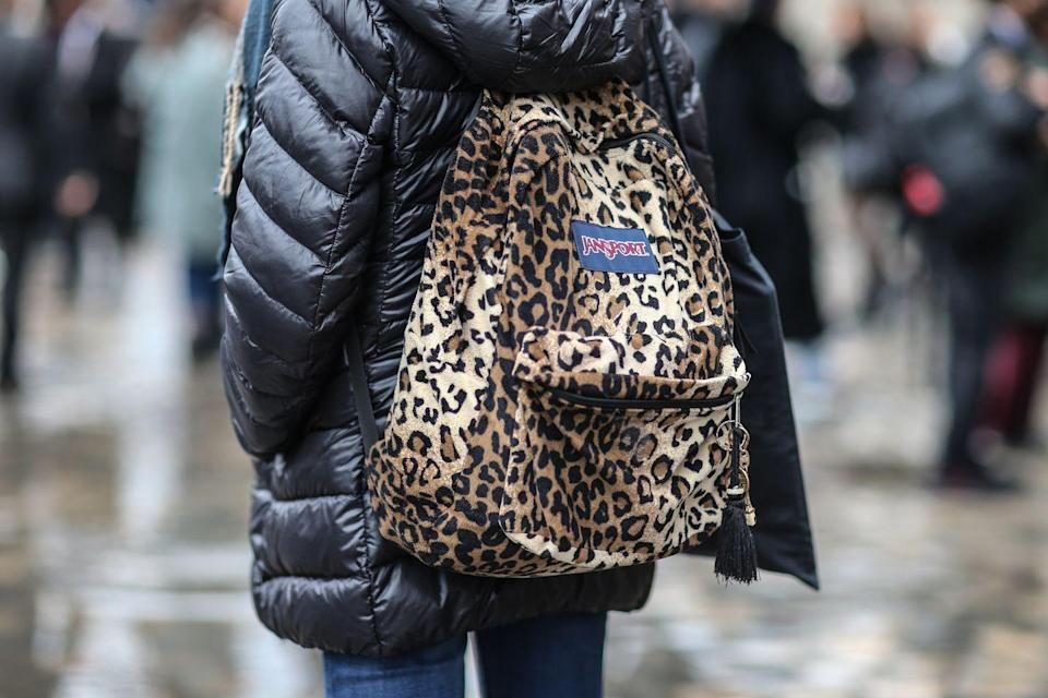 <p>It wouldn't be the early '90s without Jansport backpacks. The old-school bags were spotted on campuses everywhere—often decorated with Sharpie drawings and iron-on patches. </p>