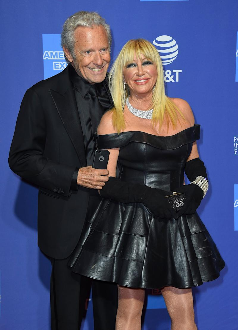 Suzanne Somers with husband at the Palm Springs International Film Festival in January. (Photo: Jordan Strauss/Invision/AP)