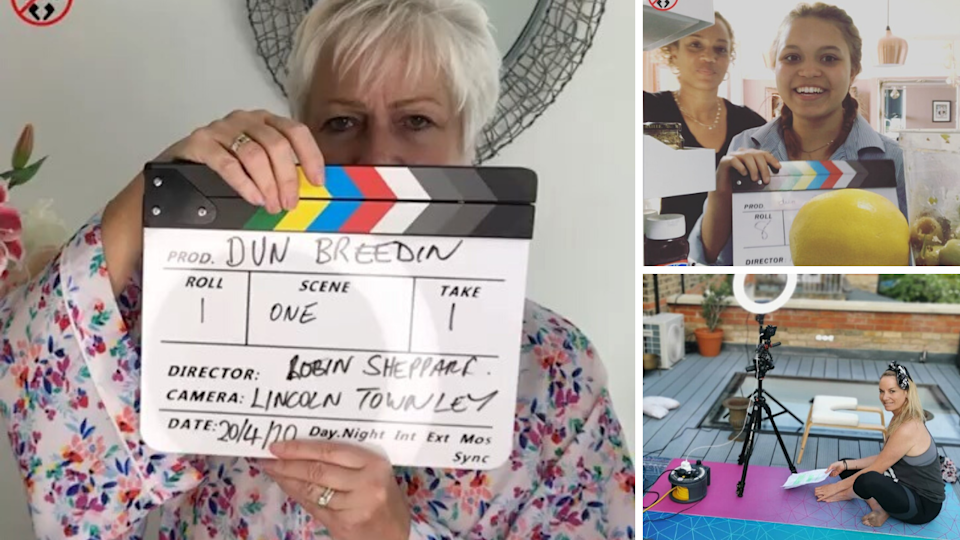 Actresses like Denise Welch, Angela Griffin and Tamzin Outhwaite are filming themselves for new online drama Dun Breedin'