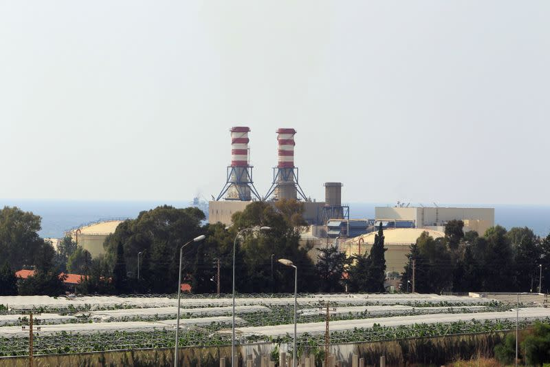 A view of the Zahrani Power plant
