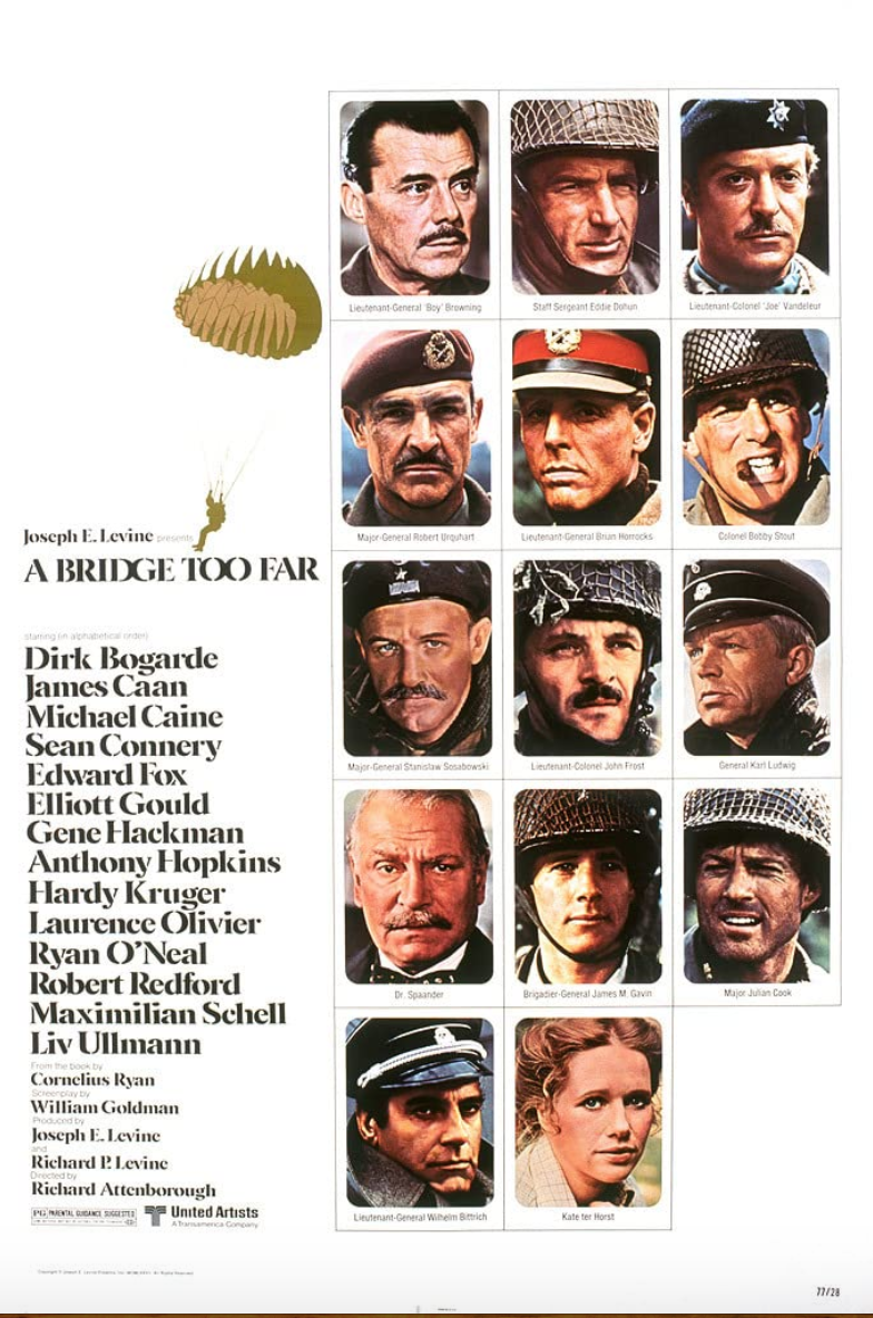 <p>Operation Market Garden, the attempt by Allied forces to bring a quicker end to the fighting on the European continent, turned instead into one of the most fraught efforts of the war. <em>A Bridge Too Far</em> plays pretty close to the actual history, and, for that, makes for a must watch for any World War II film buff.</p>