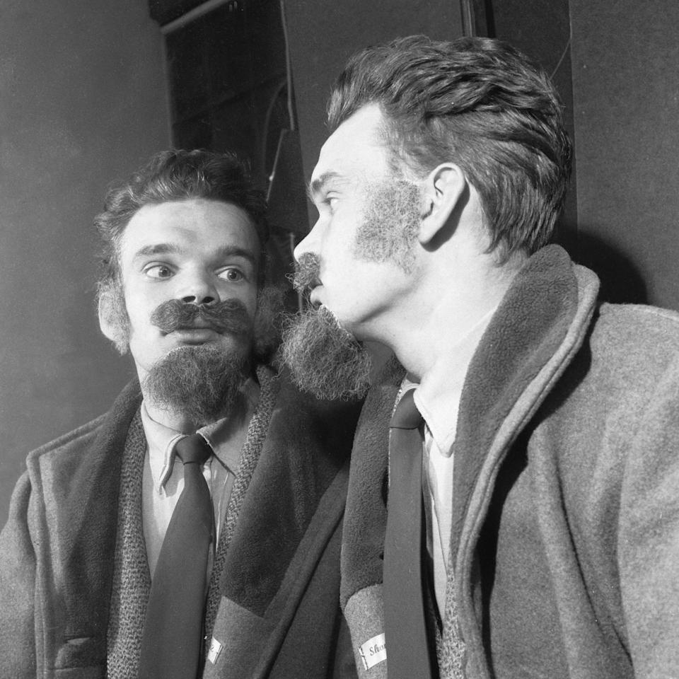 False beards for teenage men who haven't the time or the inclination to grow a real beard, 20th October 1960. (Photo by Staff/Mirrorpix/Getty Images) - Getty