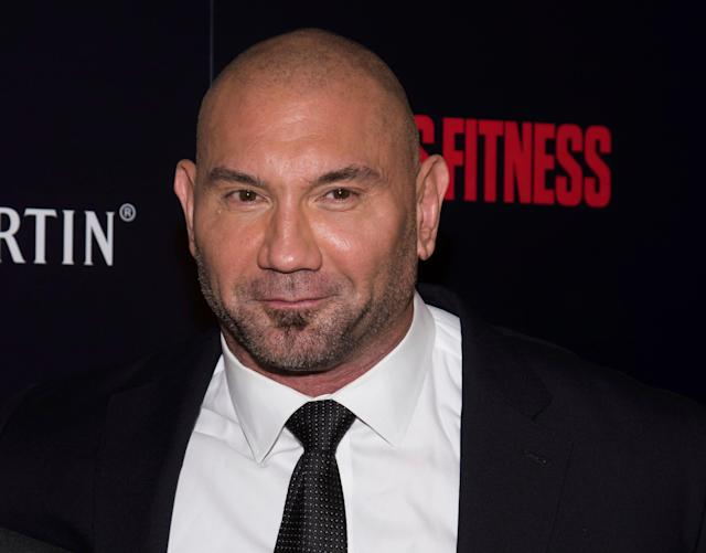 Dave Bautista leaned on cosplayers to design his final wrestling outfit. (Photo by Charles Sykes/Invision/AP)