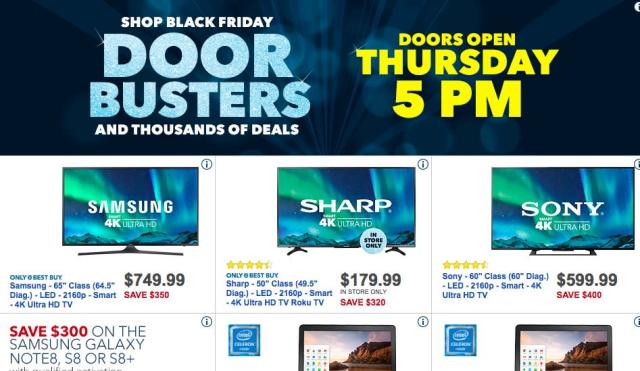 Best Buy is all about deals on 4K TVs.
