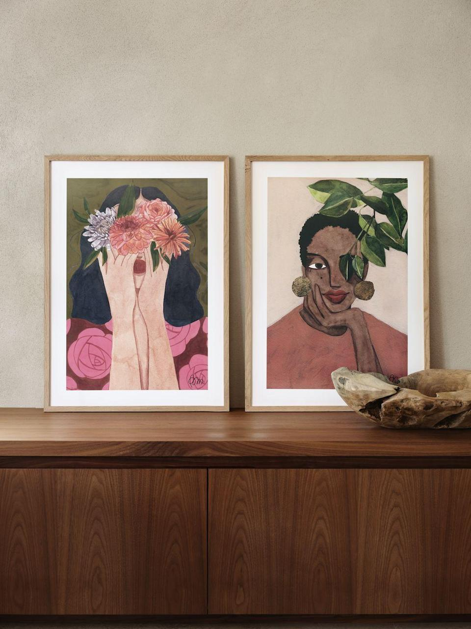 """<p>Looking to brighten up an empty wall space? Designed by Brunna Mancuso at her art studio in São Paolo, Brazil, each poster in the collection has been made using various techniques, including watercolour, gouache, and acrylics.</p><p>Speaking about the inspiration behind drawing women, Brunna says: 'We are so powerful and delicate at the same time. I like to explore that in my work through the expressive brush strokes, the textures, the shapes, and colours. I'd love it if every woman on the planet felt as confident as the women I paint.'</p><p><a class=""""link rapid-noclick-resp"""" href=""""https://www2.hm.com/en_gb/productpage.1009580006.html"""" rel=""""nofollow noopener"""" target=""""_blank"""" data-ylk=""""slk:BUY NOW"""">BUY NOW</a></p>"""