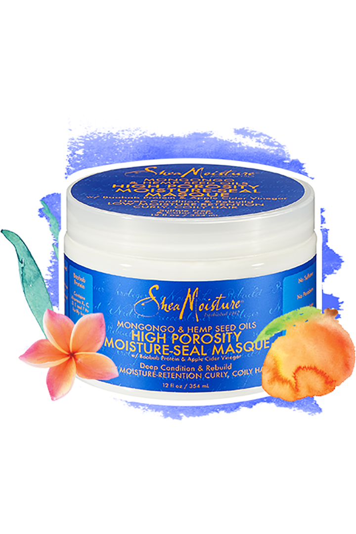 SheaMoisture Mongongo & Hemp Seed Oils High Porosity Moisture Seal Masque, $14, sheamoisture.com