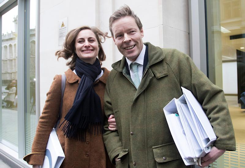 George Bingham and his wife, Anne-Sofie - Credit: NICK EDWARDS