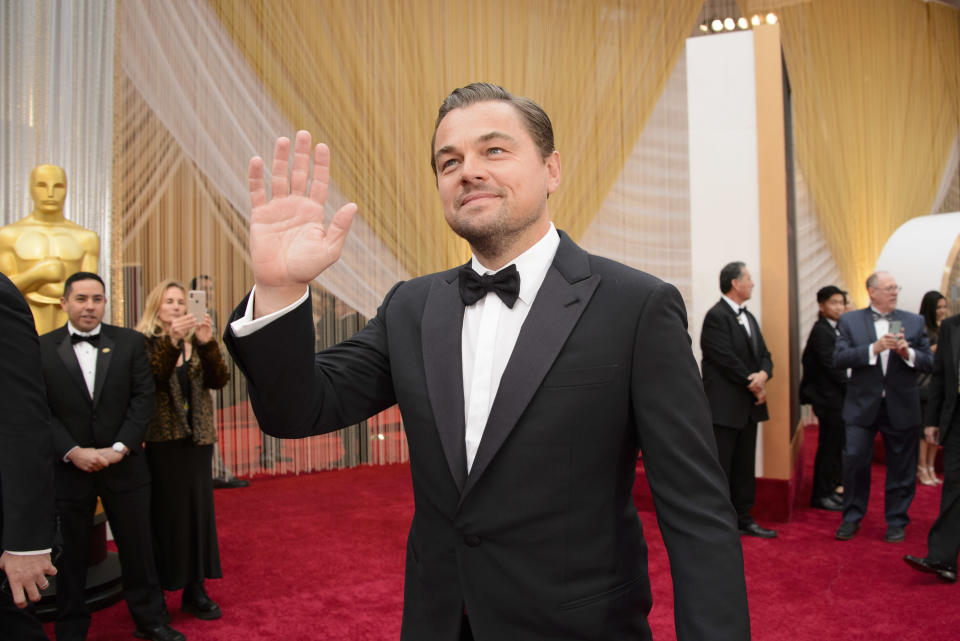 THE OSCARS® - The 92nd Oscars® broadcasts live on Sunday, Feb. 9,2020 at the Dolby Theatre® at Hollywood & Highland Center® in Hollywood and will be televised live on The ABC Television Network at 8:00 p.m. EST/5:00 p.m. PST.  (Eric McCandless via Getty Images) LEONARDO DICAPRIO