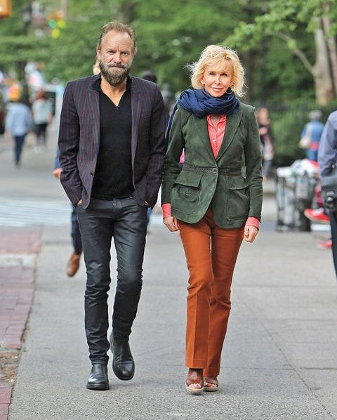 With his wife of 24 years, Trudie Styler.