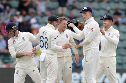 Dominic Bess (C) took 5-51, his first five-wicket haul for England, to put his side in a dominant position in the third Test