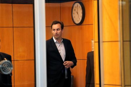 Former Uber engineer Anthony Levandowski leaves the federal court after his arraignment hearing in San Jose