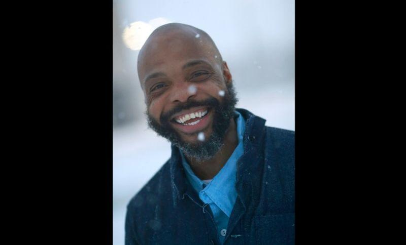 Termaine Hicks smiles after he was released from SCI Phoenix Prison Wednesday, Dec. 16, 2020, in Collegeville, Pa. Hicks was exonerated Wednesday after serving 19 years in prison.
