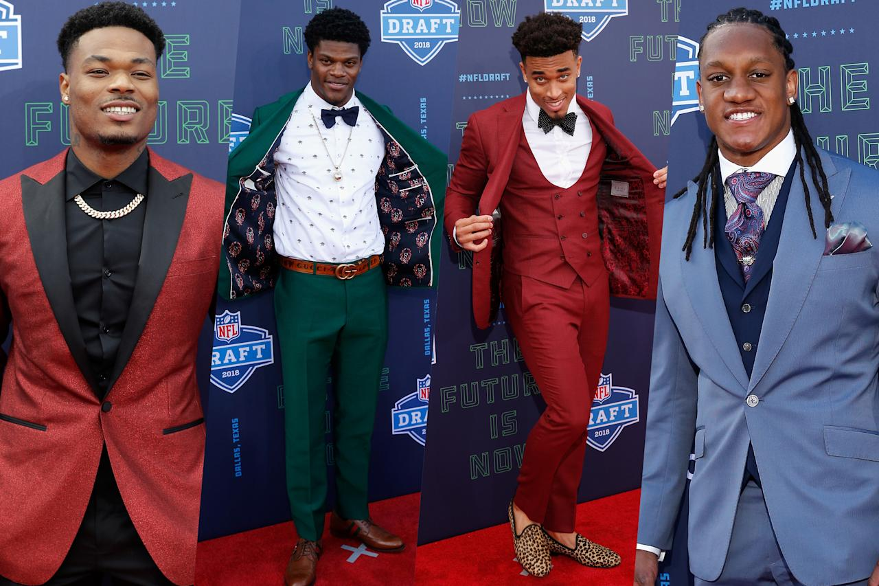 <p>This year's NFL Draft attendees went all out this year with flashy suits and custom jacket linings. </p>