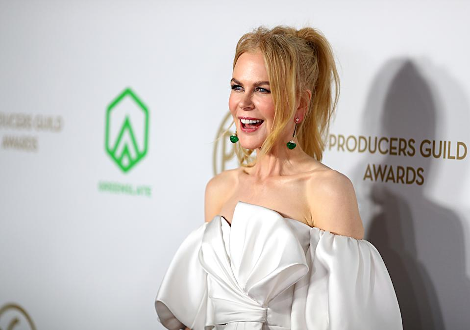 LOS ANGELES, CALIFORNIA - JANUARY 18: Nicole Kidman attends the 31st Annual Producers Guild Awards at Hollywood Palladium on January 18, 2020 in Los Angeles, California. (Photo by Joe Scarnici/FilmMagic)