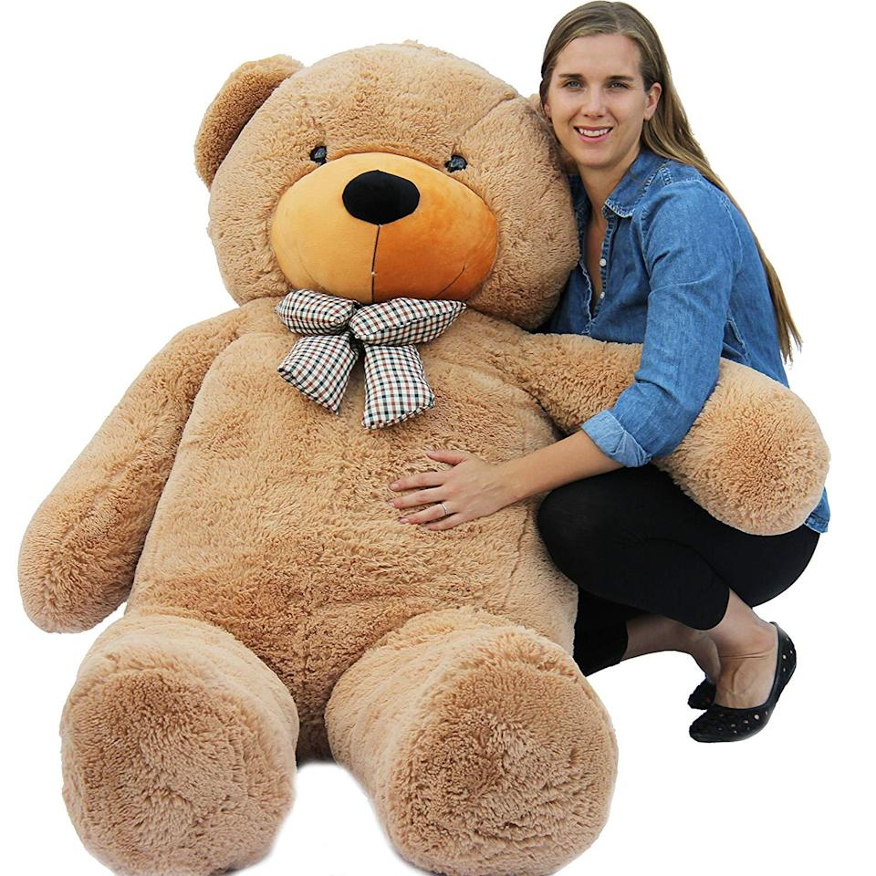 """<h3>Giant Teddy Bear</h3><br>Be the favorite aunt forever with this 6'5"""" stuffed animal.<br><br><strong>Joyfay</strong> Giant Teddy Bear, $, available at <a href=""""https://amzn.to/2qN34ak"""" rel=""""nofollow noopener"""" target=""""_blank"""" data-ylk=""""slk:Amazon"""" class=""""link rapid-noclick-resp"""">Amazon</a>"""