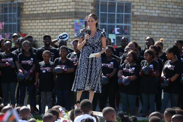 The Duchess of Sussex in South Africa's Nyanga Township