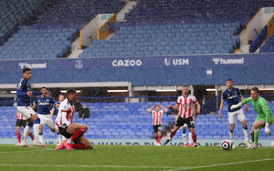 Daniel Jebbison opens the scoring with a poacher's finish - GETTY IMAGES