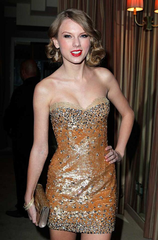 """When you talk about hotties in country music, the conversation wouldn't be complete without mentioning Taylor Swift. The """"Love Story"""" songstress knows how to rock any ensemble, whether a sophisticated look on the red carpet or a bohemian look on the street. Jeff Vespa/VF11/<a href=""""http://www.wireimage.com"""" target=""""new"""">WireImage.com</a> - February 27, 2011"""